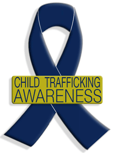 Child Trafficking Ribbon