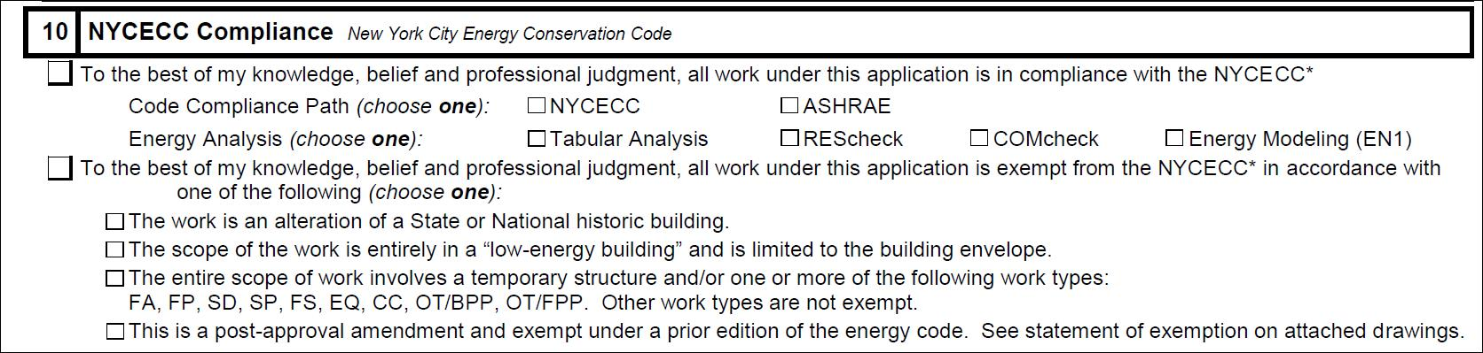buildings - energy code forms
