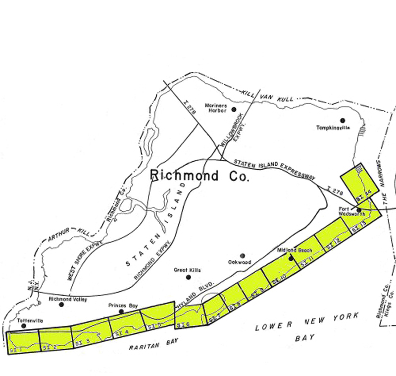Staten Island Coastal Erosion Hazard Area Map