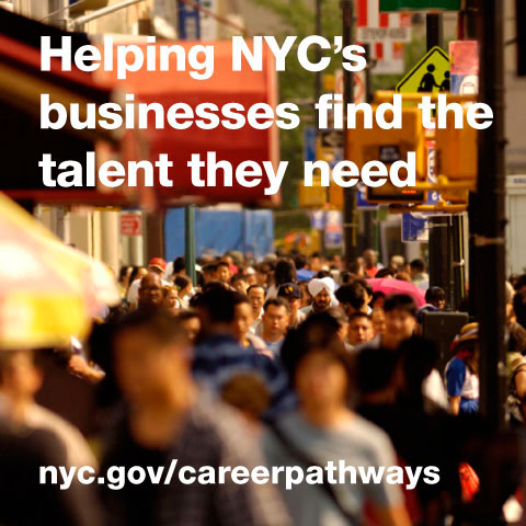 Text: Helping NYC's businesses find the talent they need.""