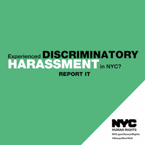 Discriminatory harassment is threats, intimidation, harassment, coercion or violence that interferes with a person's civil or constitutional rights; and is motivated in part by that person's actual or perceived race, creed, color, national origin, gender, sexual orientation, age, disability, or alienage or citizenship status or other protected status.