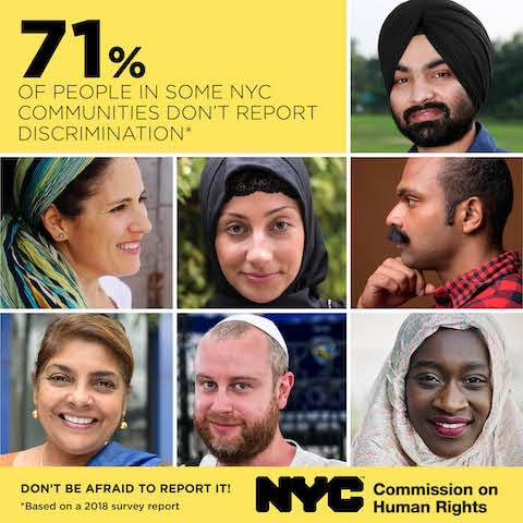 In June 2018, the Commission released a report summarizing the findings of a survey in which the agency surveyed 3,105 Muslim, Arab, South Asian, Jewish, and Sikh New Yorkers about their experiences of bias harassment, discrimination, and acts of hate between July 2016 and late 2017, a timeframe that encapsulates the aftermath of the Republican National Convention and Federal announcements threatening these and other communities, including a travel ban affecting Muslim majority countries and the ending of both the Deferred Action for Childhood Arrival (DACA) program and Temporary Protected Status (TPS) for millions of immigrants living in the United States.