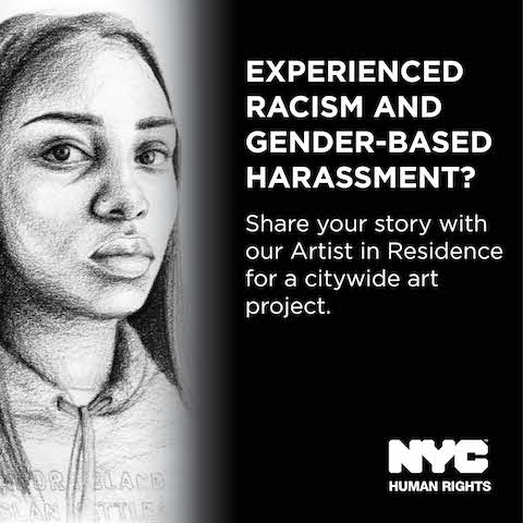 NYC Commission on Human Rights' first Public Artist In Residence (PAIR) Tatyana Fazlalizadeh, a Brooklyn-based street artist and painter whose street art project <i>Stop Telling Women to Smile </i>tackling gender-based street harassment has amassed international attention, is unveiling this fall a series of citywide street art projects addressing anti-black racism and gender-based harassment.