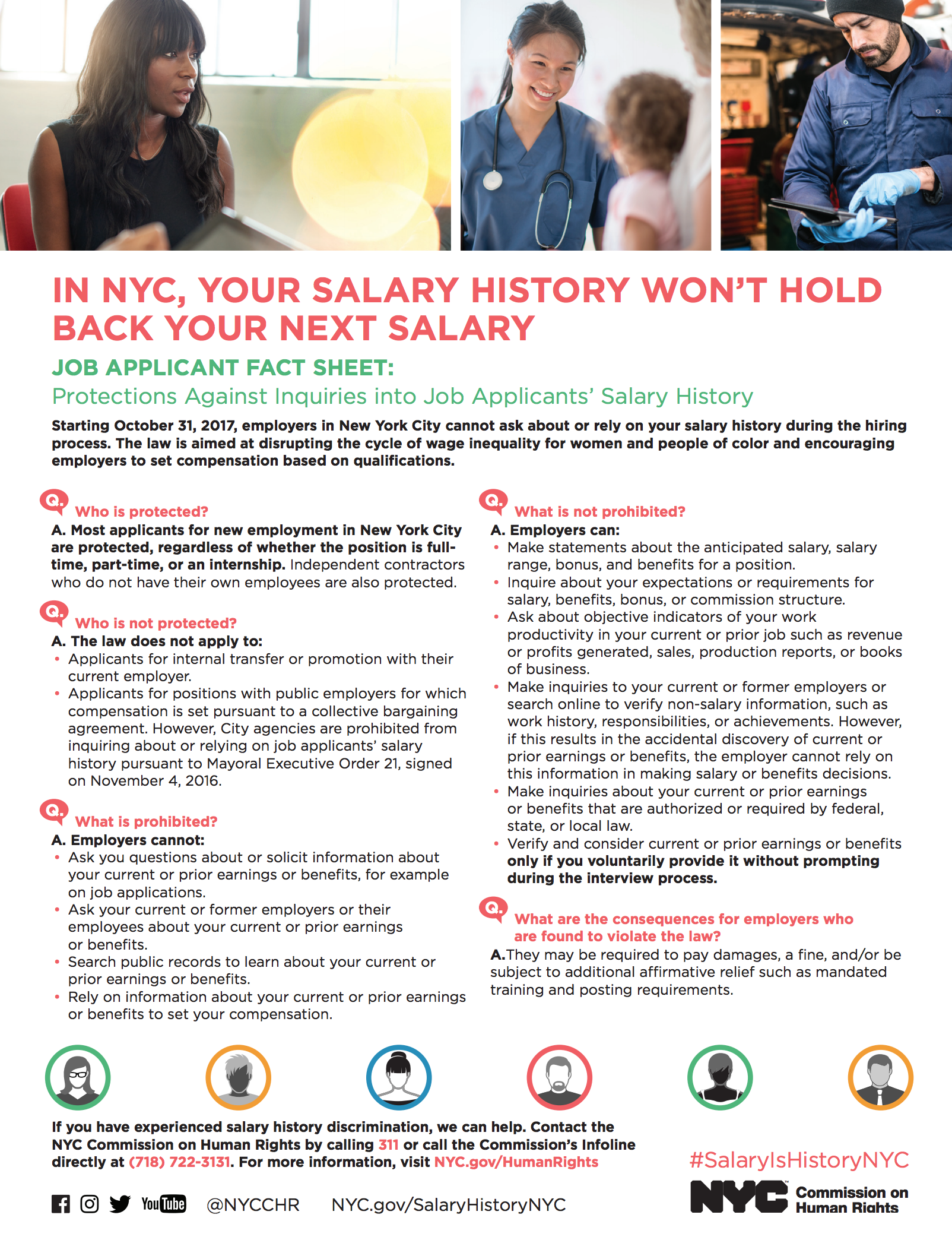 Salary History Law Factsheet For Job Applicants Cchr