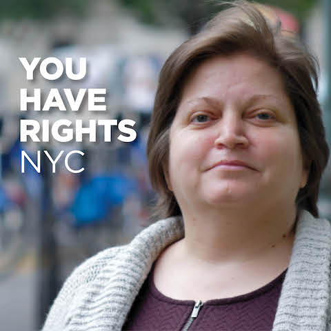 "The Commission's ""You Have Rights NYC"" testimonial video series has been designed to highlight prominent examples of successful outcomes achieved through law enforcement action by the agency. The videos educate the public on real experiences of discrimination told in first person by New Yorkers who got justice thanks to reaching out to the Commission."