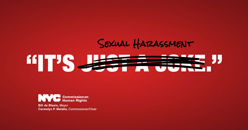 Anti sexual harassment posters for the workplace