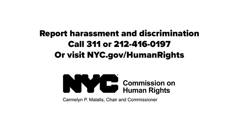 Screen shot from Report Discrimination Animated Video