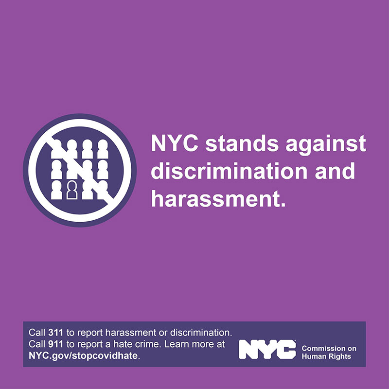 NYC stands against discrimination and harassment