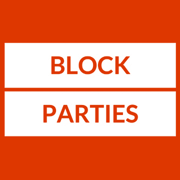 Text: Block Parties