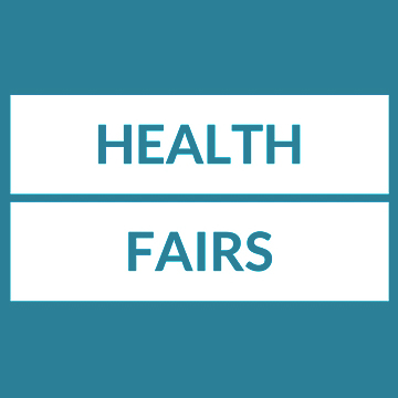Text: Health Fairs