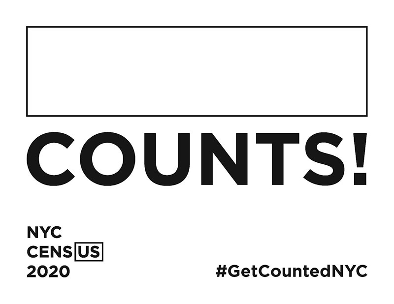 Counts! sign in black and white