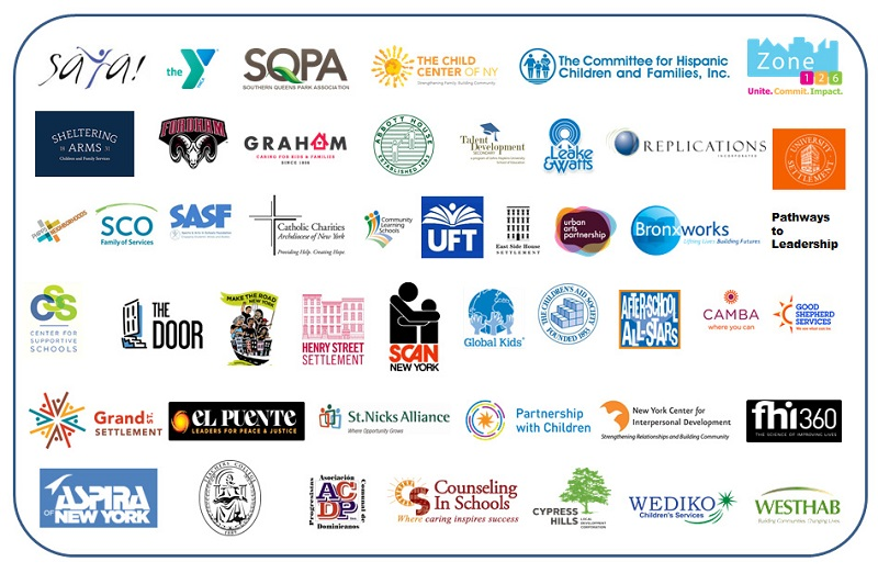 NYC Community Schools partner logos