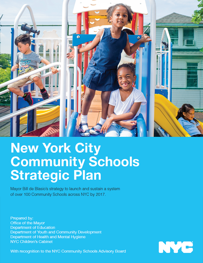NYC Community Schools Strategic Plan cover page