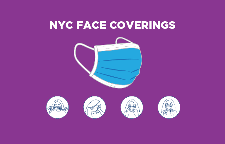 graphic of a face covering