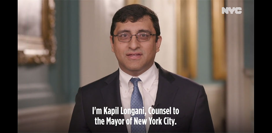 Photo of Kapil Longani, Counsel to the Mayor of New York City