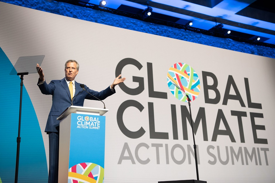 Mayor de Blasio in San Francisco for the Global Climate Action Summit