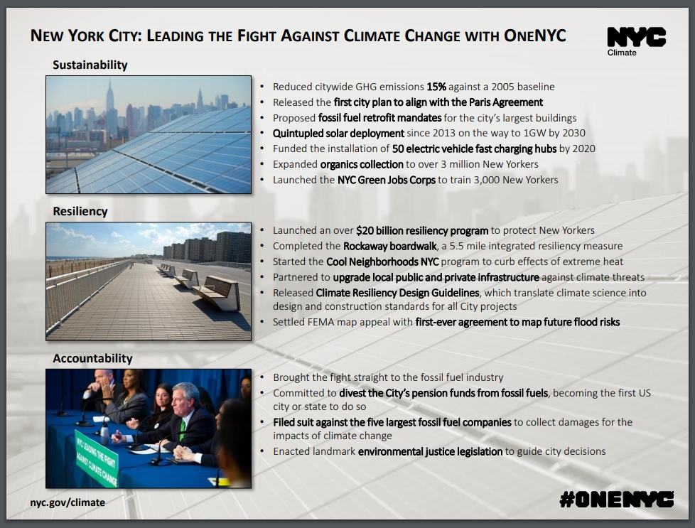 NYC Leading Fight Against Climate Change with OneNYC