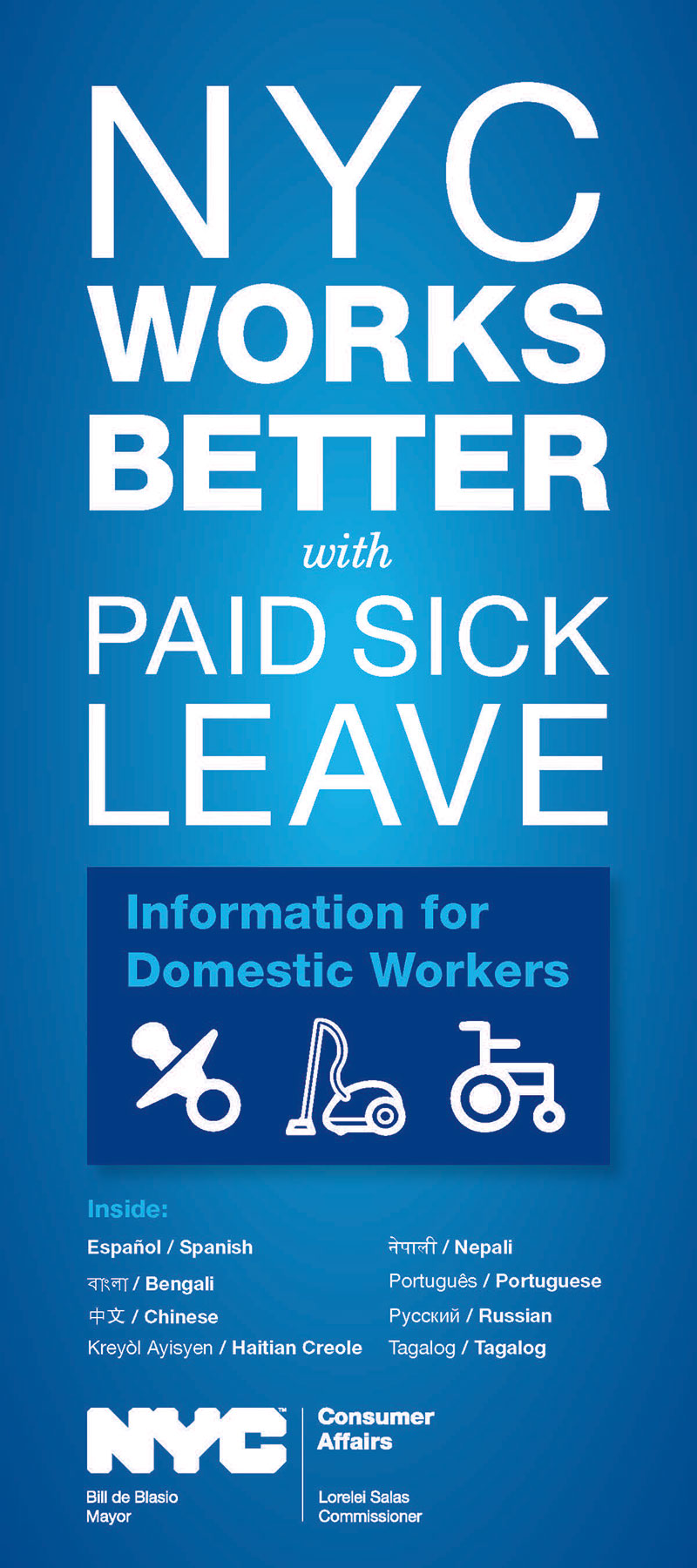 Information for Domestic Workers about Paid Sick Leave in 9 languages