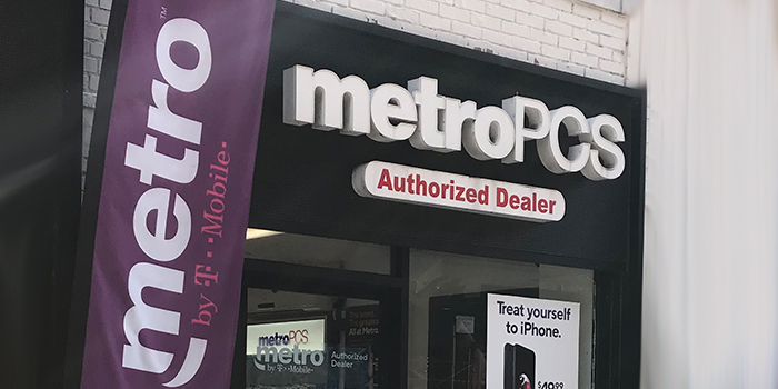 Storefront photo of a Metro by T Mobile business in NYC