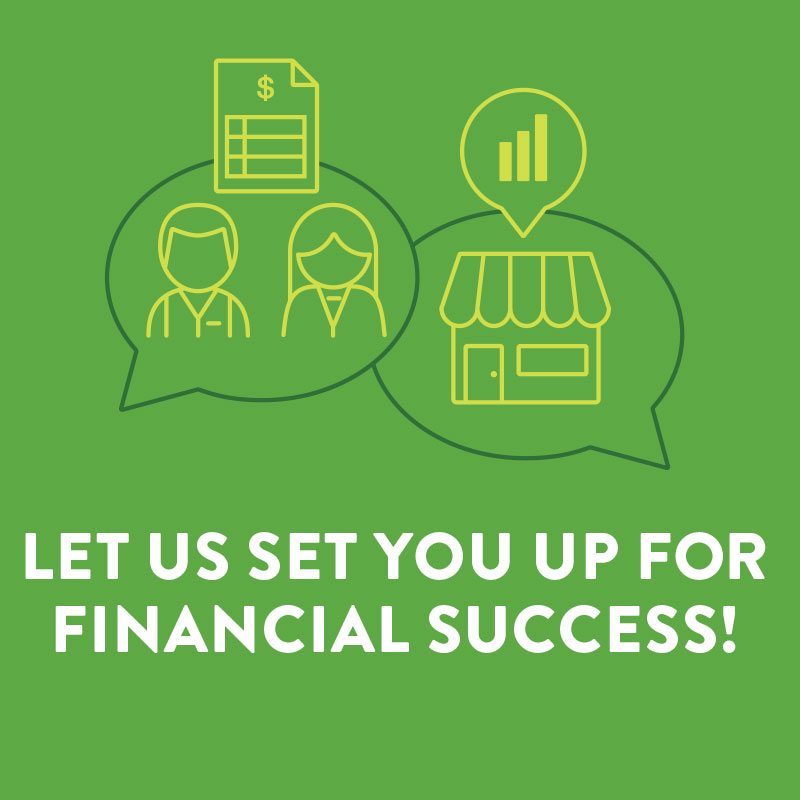 Let us Set You Up for Financial Success Poster