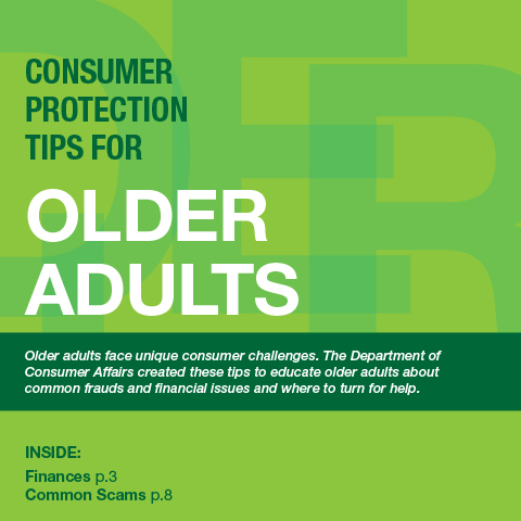 Consumer Protection Tips for Older Adults