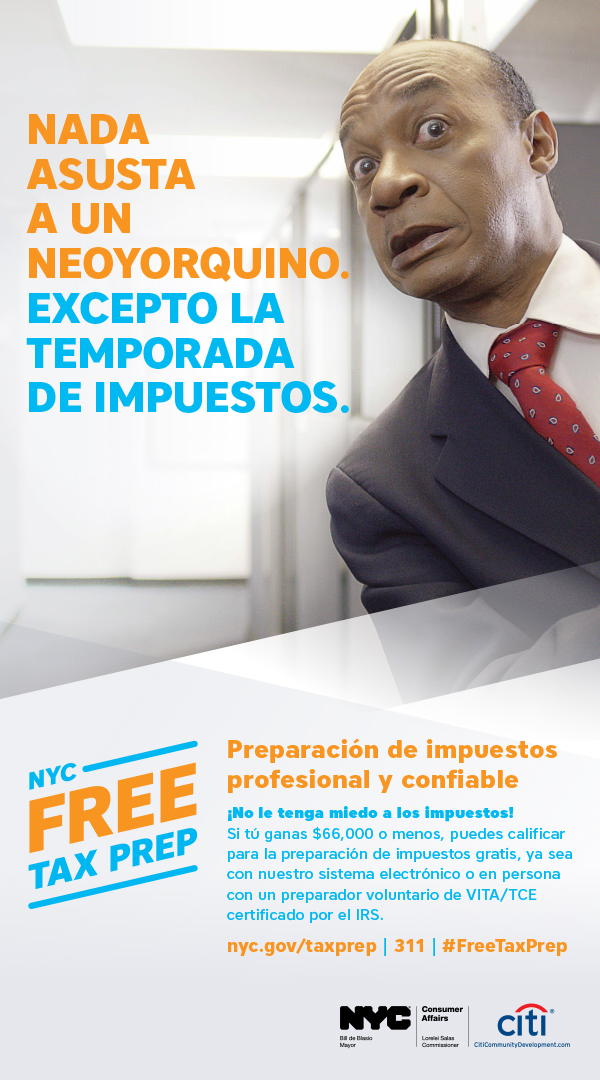 Tax Time Campaign Ad 1 in Spanish