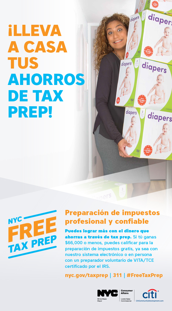 Tax Time Campaign Ad 3 in Spanish