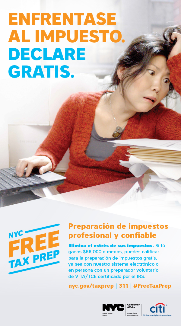 Tax Time Campaign Ad 4 in Spanish
