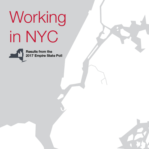 Report cover Working in NYC: Results from the 2017 Empire State Poll