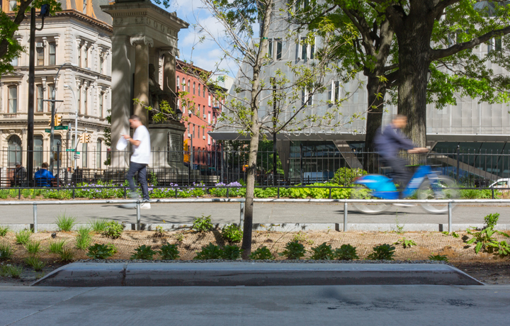 Astor Place in spring