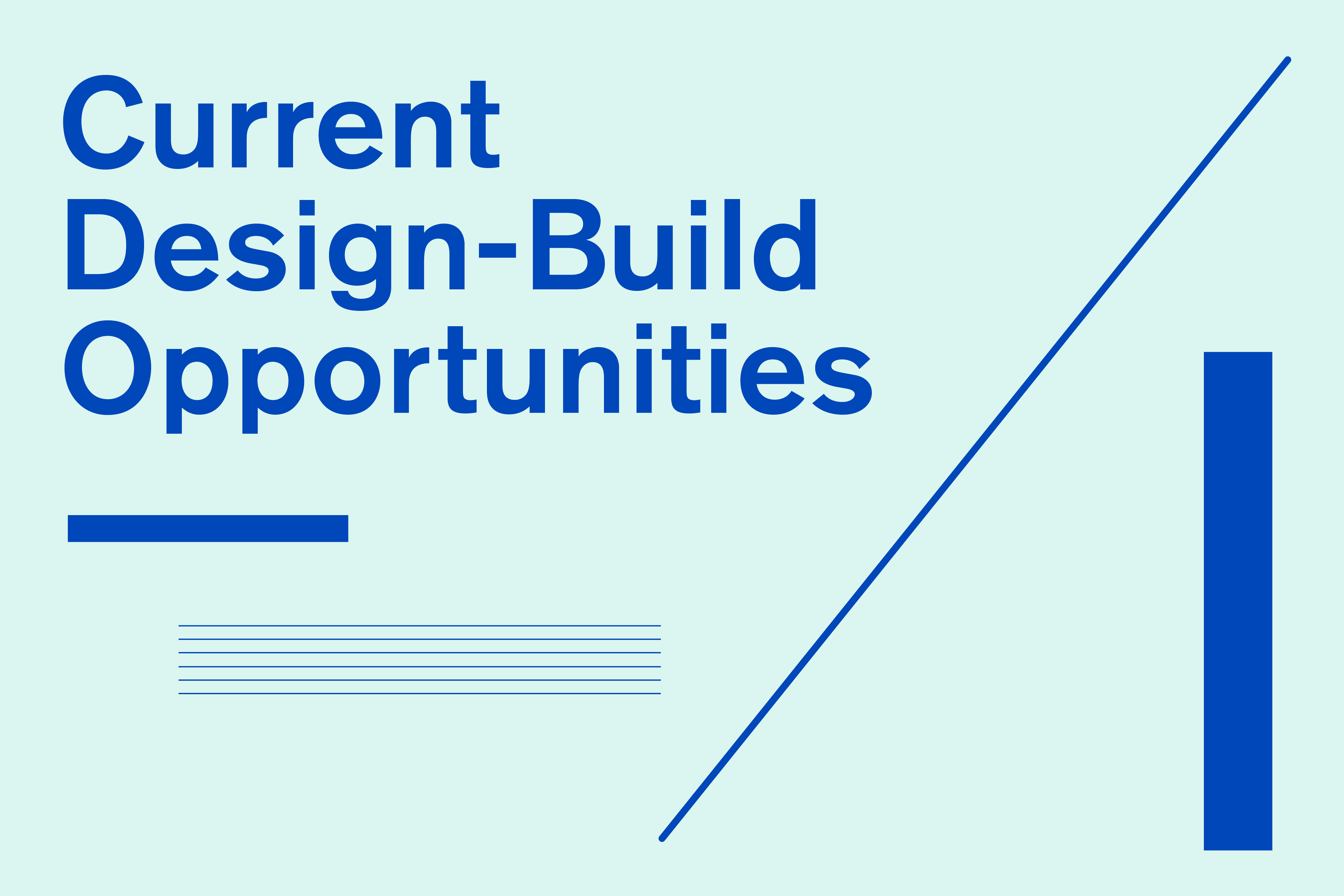 A banner that reads Current Design Build Opportunities
