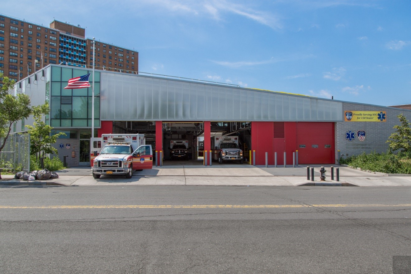 The Zerega Avenue EMS station in the Bronx