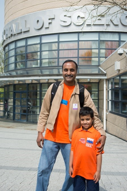 DDC Geotechnical Engineer Bobby Issac with son Aiden, 8