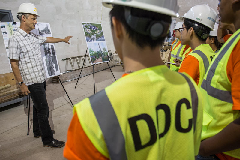 DDC summer interns with architect gregory kiss