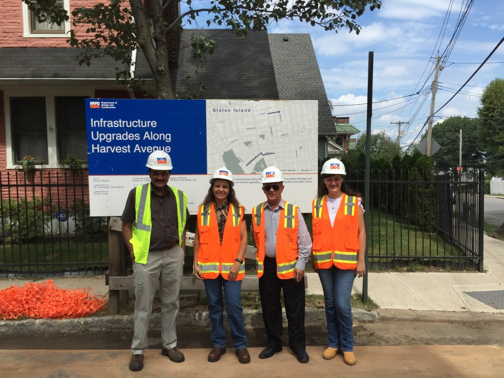 DDC's project team wearing hardhats and vests
