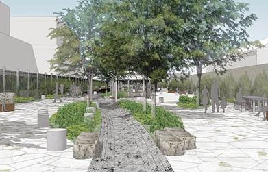 Rendering of the Waterfront Nature Walk in Brooklyn