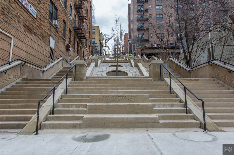 image of the step street at 215th