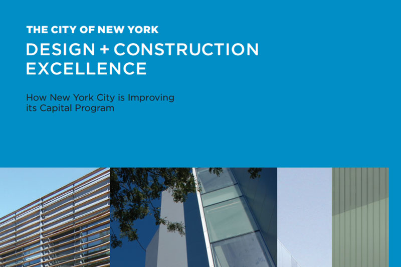 Cover for the 2008 Design and Construction Excellence manual.