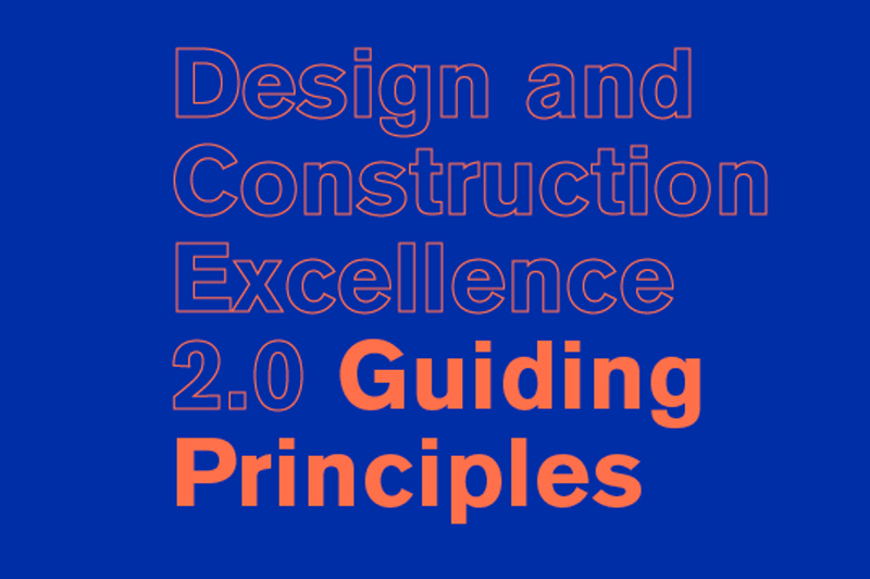 Cover of the Guiding Principles. Title is set in orange on a blue background.