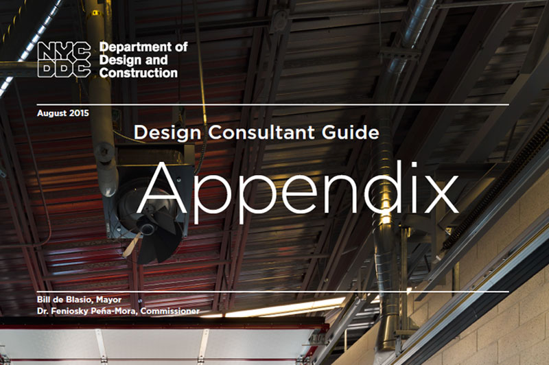 Cover of the Design Consultant Guide Appendix