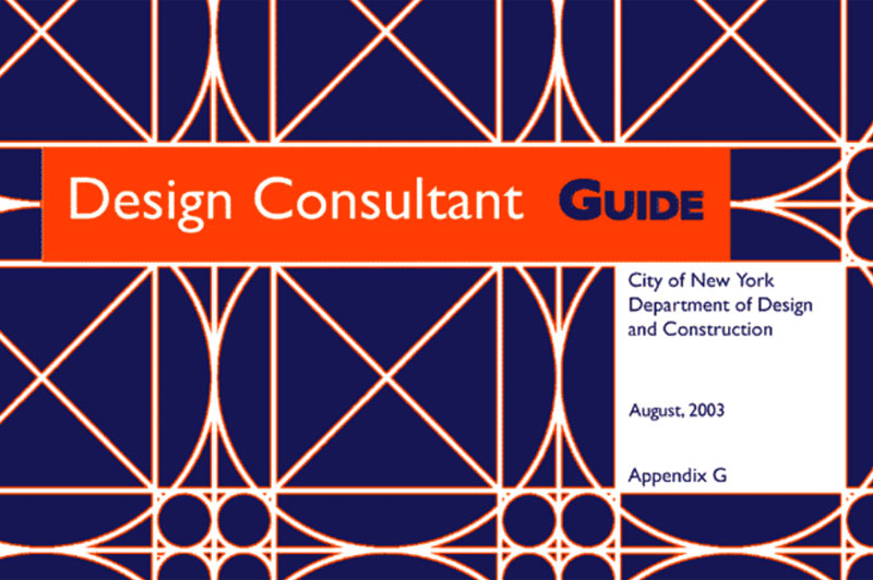 Cover for the Design Consultant Guide. 2010 contracts or earlier.