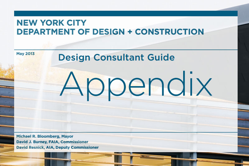 Cover for the 2013 Design Consultant Appendix.