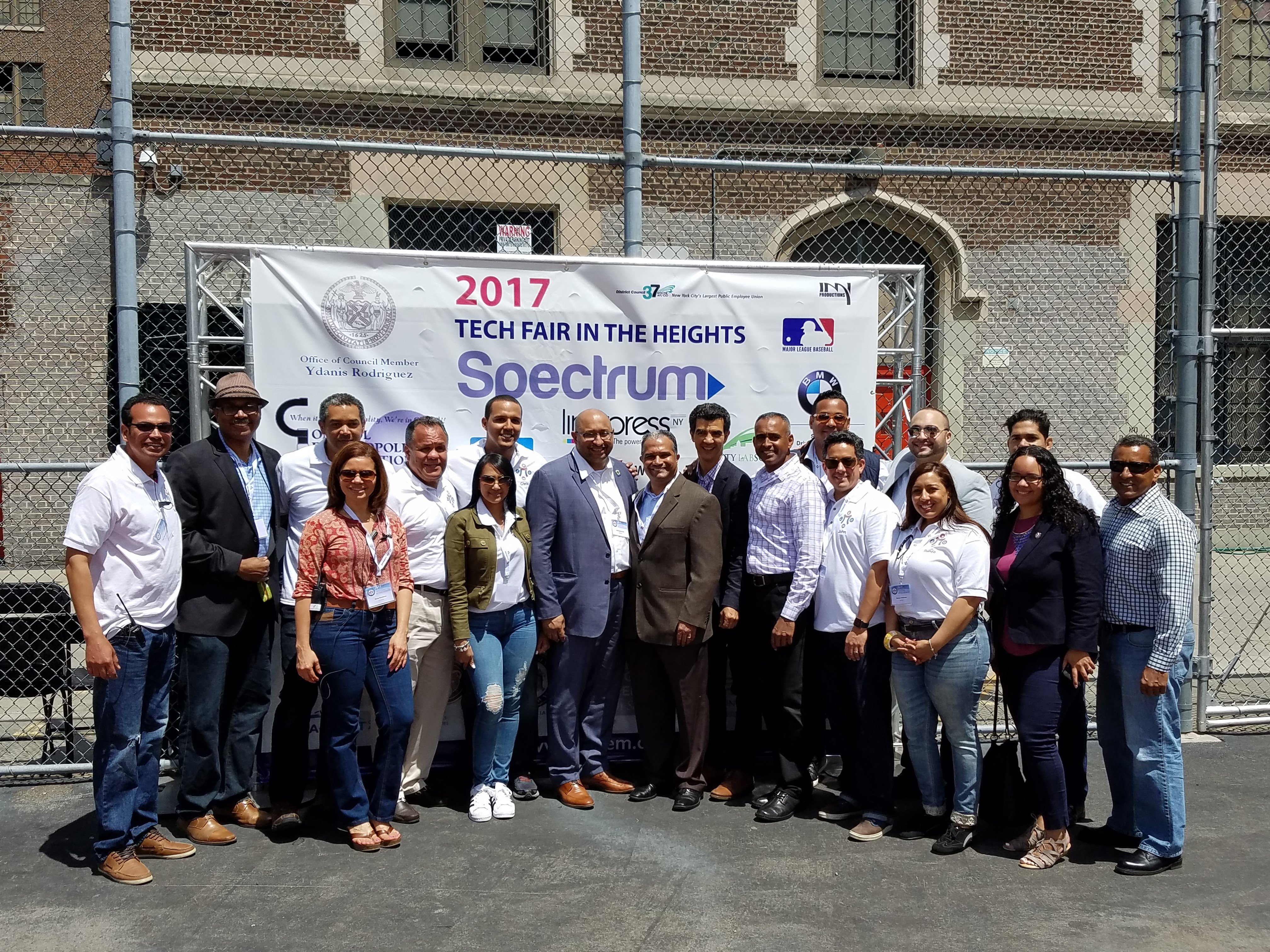 DDC Commissioner Feniosky Peña pictured with community leaders