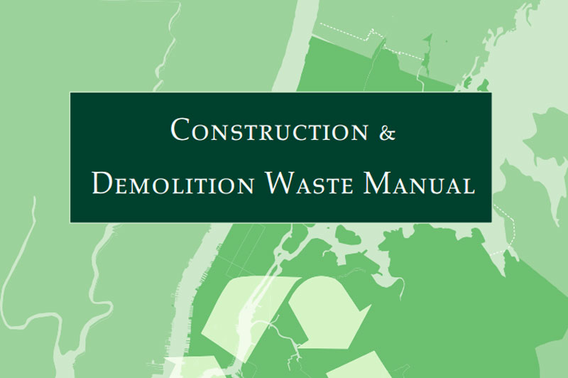 Cover for the Construction and Demolition Waste Manual