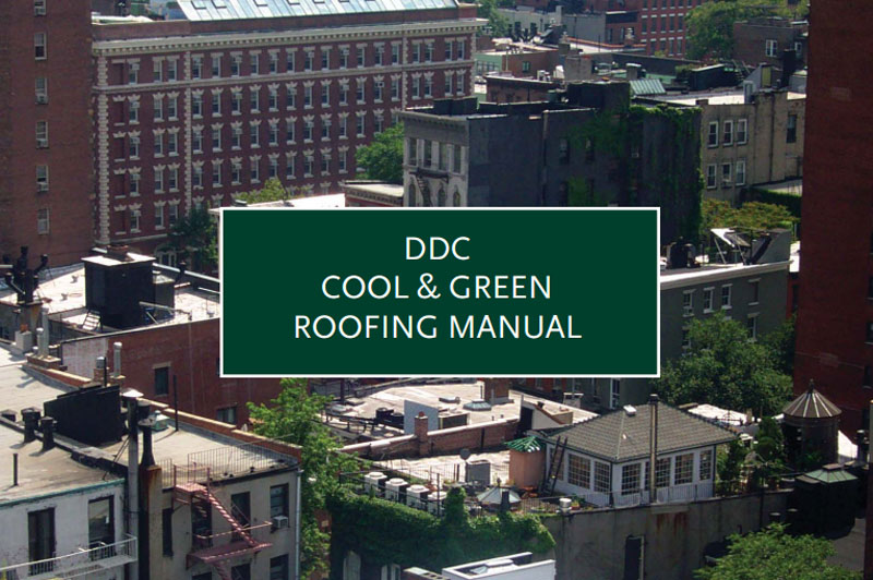 Cover for the Cool and Green Roofing Manual.