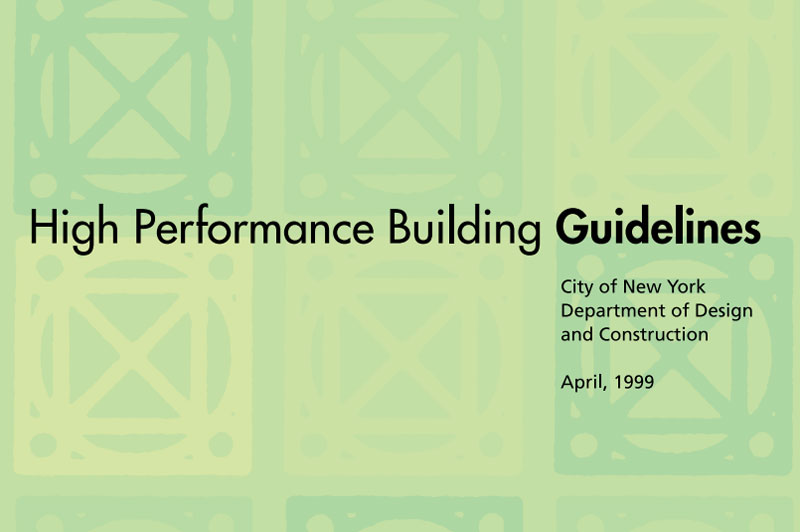 Cover for High Performance Building Guidlines.