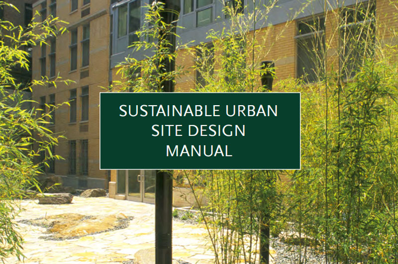 Cover for the Sustainable Urban Site Design Manual.
