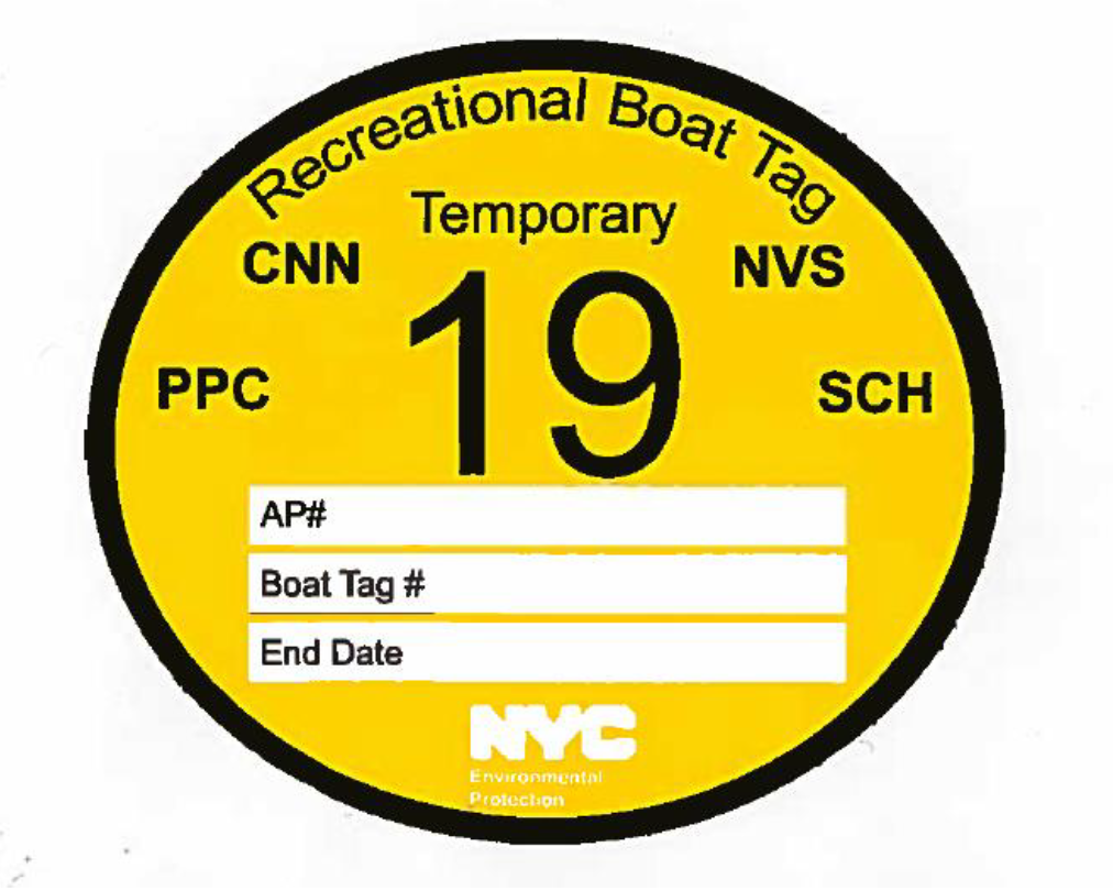 Temporary Recreational Boat Tag