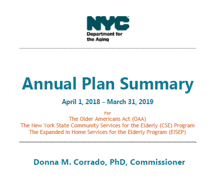 Report Cover for the Annual Plan Summary