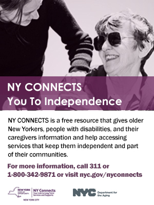 Photo of the NY CONNECTS advertising campaign.